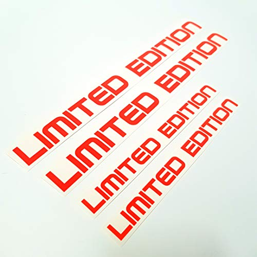 folien-zentrum Juego de 4 pegatinas de edición limitada, diseño de holograma neón, para tunear la mano, color rojo neón