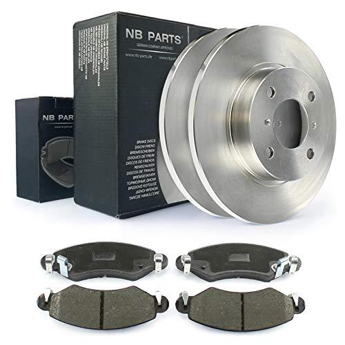 NB PARTS Germany 10038346 - Juego de frenos delanteros y pastillas de freno (247 mm de diámetro)