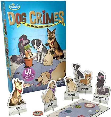 ThinkFun Cat Crimes Brain Game and Brainteaser for Boys and Girls Age 8 and Up - A Smart Game with a Fun Theme and Hilarious Artwork