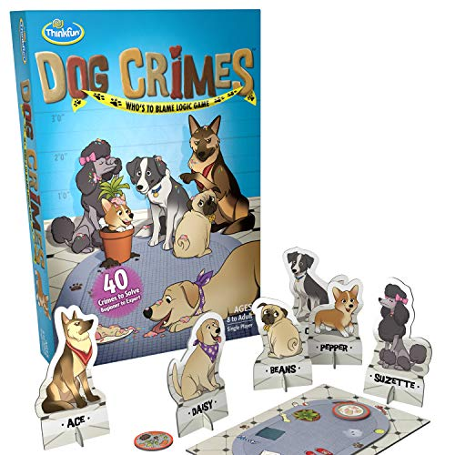 ThinkFun Dog Crimes Logic Game and Brainteaser for Boys and Girls Age 8 and Up  A Smart Game with a Fun Theme and Hilarious Artwork