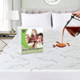 Utopia Bedding Premium 340 GSM Bamboo Mattress Protector, Fits 17 Inches Deep, Easy Care (Queen)