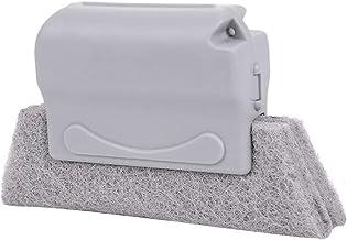 Raamgrove reinigingsborstel venster Sink Slot Cleaner Cleaning Tool (Color : Gra)