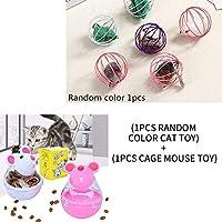 YVYOO Cat Toy ファンタンブラーフィーダーおもちゃマウス漏れ食品ボールペット知育玩具ペット漏れデバイスおかしい猫インタラクティブおもちゃ