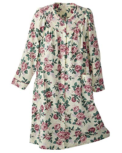 National Floral Flannel Duster