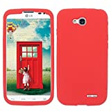Silicon RED Phone Case Cover for LG Optimus L90 / D410 D405 D405N D415