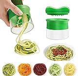 FunRun Cortador en espiral, Cortador de Verduras Frutas en Espiral, manual, para hacer espaguetis de verduras y patatas, cortador de pepinos, rallador de zanahorias, rallador de verduras