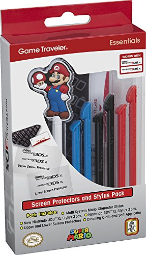 new nintendo 3ds stylus Officially Licensed Nintendo 3DS Mario Stylus Pen and Screen Protection Pack – Fits 3DS XL and New 3DS XL