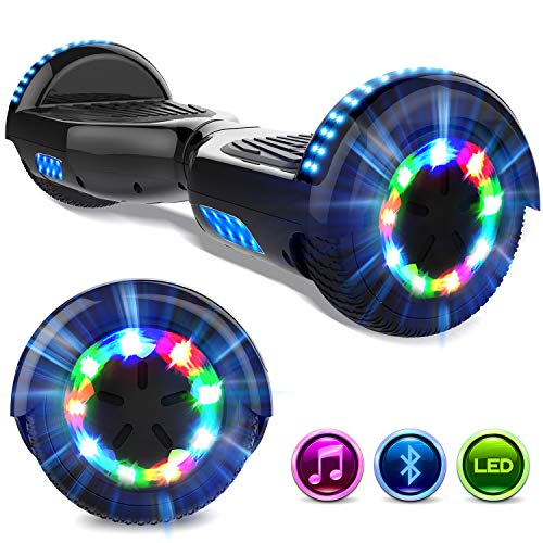 GeekMe Hoverboards 6.5 '' Self Balance Scooter Las Ruedas LED Luces, Scooter eléctrico con Bluetooth - Patinete Eléctrico 2 *...