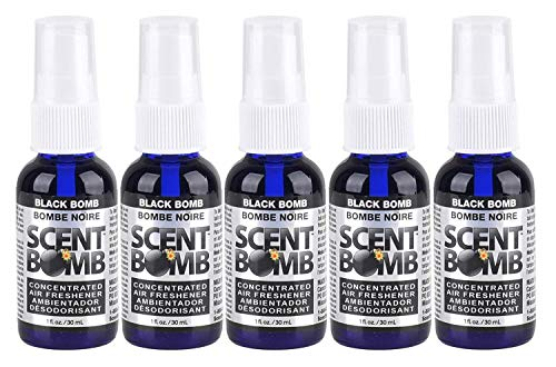 Scent Bomb Super Strong 100% Concentrated Air Freshener - 5 PACK (Black Bomb)
