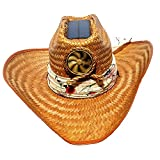 Ladies Solar Cowgirl Palm Leaf Hat Large with Interchangeable Scarf