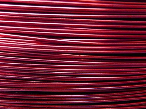 Vaessen–Rollo de alambre de aluminio–2m x 1mm- Color rojo sangre de buey