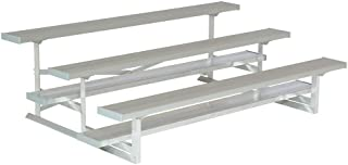 National Recreation Systems - NB-0307.5ASTD - 7-1/2 ft. Bleacher with 15 Seats in 3 Rows, Aluminum