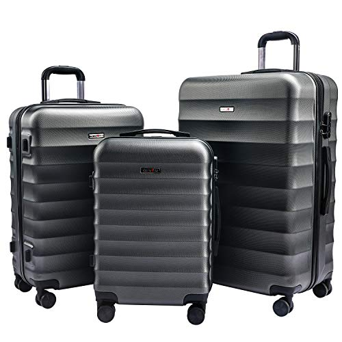 CarryOne Set Valigie Rigido Trolley Bagaglio a Mano con 4 Rotelle Girevole,...