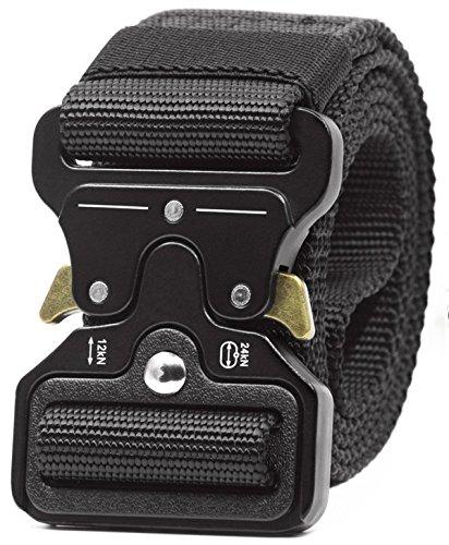 REFINEMMEE Gun Belts for Concealed Carry Utility Tactical Riggers CQB Outdoor Combat Quick Release Gun Belts for Molle Pistol Holster – Black Duty Belt Men Inner Battle Police Belt