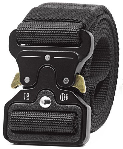 REFINEMMEE Gun Belts for Concealed Carry Utility Tactical Riggers CQB Outdoor Combat Quick Release Gun Belts for Molle Pistol Holster – Black Duty Belt Men Inner Battle Police Belt