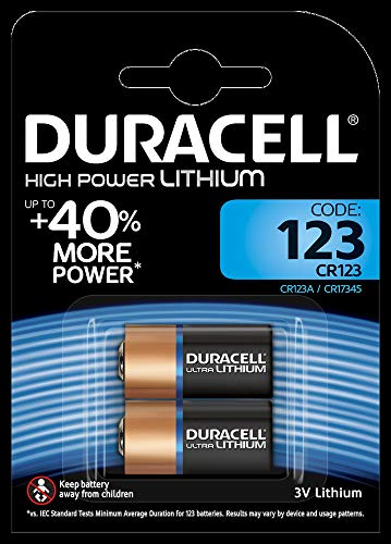 Duracell DL123A Doppelpack Ultra CR123A/EL123A 3V Lithium Batterie für Langanhaltende Leistung...