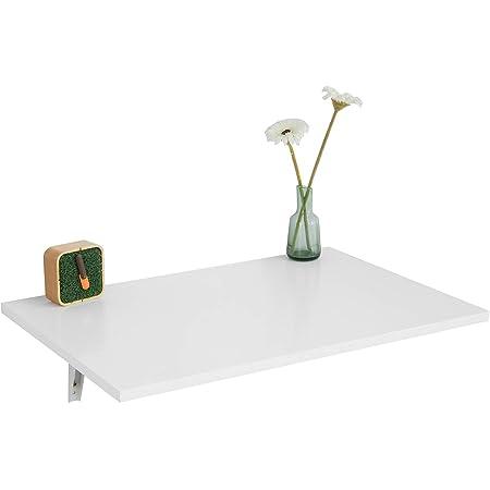 SoBuy® FWT21-W Table Murale Rabattable en Bois Table de Cuisine Table Enfant L60×P40cm –Blanc