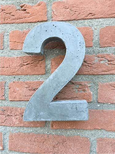 Hausnummer von Beton Nr.2 20cm hoch, Versand innerhalb von 1-2 Tagen