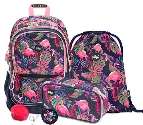 Schulrucksack Set Mädchen 3 Teilig - Schultasche ab 3. Klasse - Grundschule Ranzen mit...