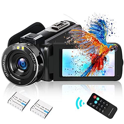 Video Camera Camcorder DIWUER 2021 Upgraded Full HD 1080P 30MP Vlogging...