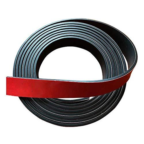 QZH Solid gummiremsa 3,28 fot lång magnetisk tejp med premium självhäftande rulle för kontor kylskåp hantverk bredd 25/30/40 mm, 3 mm x 30 mm