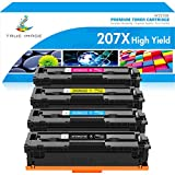 True Image Compatible Toner Cartridge Replacement for HP 207X 207A W2210A W2210X W2211A W2212A W2213A for HP Color Laserjet Pro MFP M283fdw M282nw M283fdn Pro M255dw M255nw M283 M282 M255 High Yield