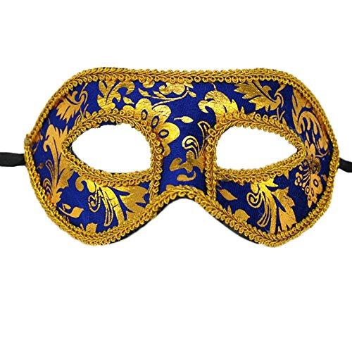 Demarkt Venetiaans masker carnaval masker mannen kant oogmasker masker masker stijl F