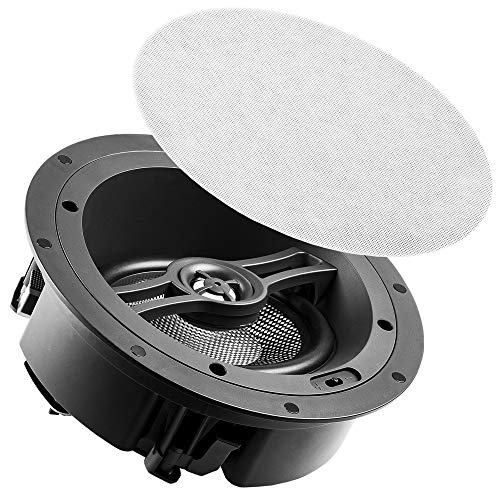 """OSD 6.5"""" Angled Ceiling Speaker Trimless LCR Sound Dolby Atmos Ready, Single - White ACE670"""