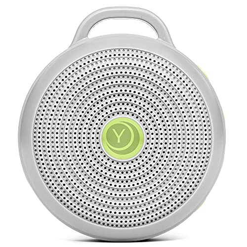 Yogasleep Hushh Portable White Noise Machine for Baby | 3 Soothing, Natural Sounds with Volume Control | Compact for On-the-Go Use & Travel | USB Rechargeable | Baby-Safe Clip & Child Lock