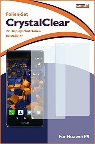 mumbi Schutzfolie kompatibel mit Huawei P9 Folie klar, Displayschutzfolie (2X) - 3