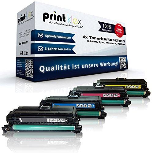 Print-Klex 4x Kompatible Tonerkartuschen für HP LaserJet Enterprise 500color CE400x CE400a CE401a CE402a CE403a - SPARSET PREMIUM LINE