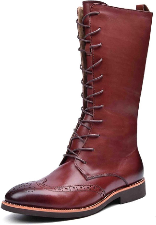 NIUMJ Poided höga stövlar Autumn Winter mode Trender för Koreanska stövlar Martin stövlar Lace -up skor