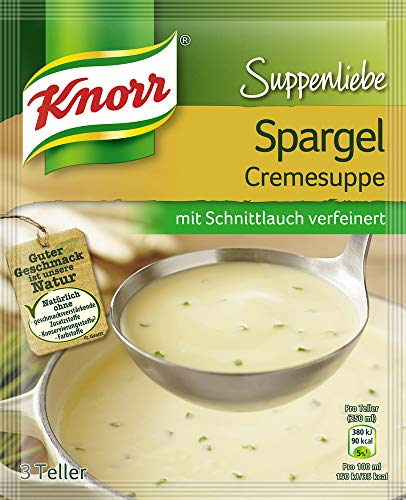 Knorr Suppenliebe Spargelcreme Suppe, 1 x 3 Teller (1 x 750 ml)