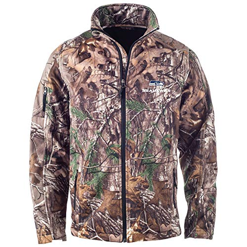 Dunbrooke Apparel NFL Seattle Seahawks Huntsman Softshell Jacket, Real Tree Camouflage, Large