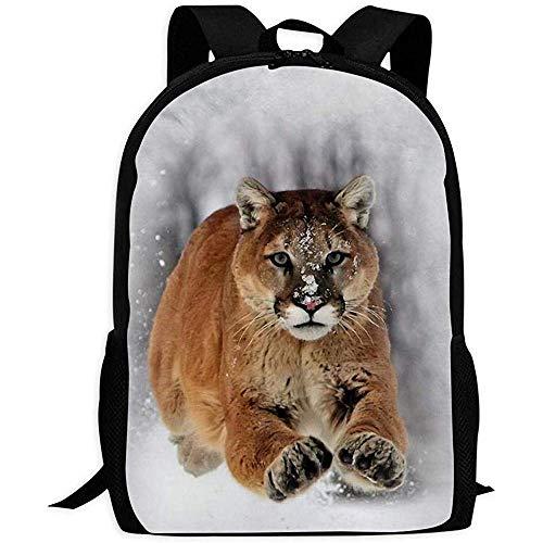 Kimi-Shop Mochila Unisex Cougar Bookbag Mochila de Viaje Mochilas Escolares Bolsa para computadora portátil para Hombres y Mujeres