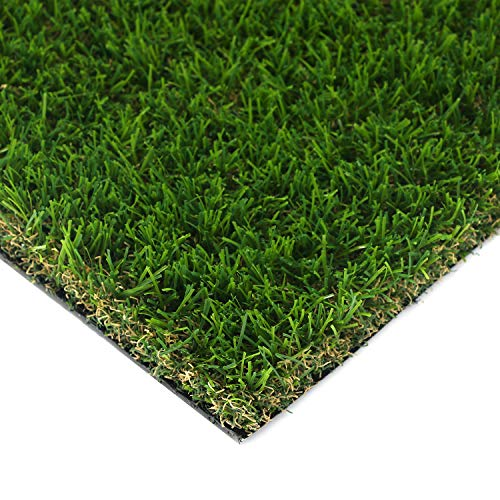 HouseAid Realistic Indoor/Outdoor Artificial Turf Lawn, Man-Made Grass Lawn for Garden, Synthetic Landscaping Grass Mat, 3.9 Inch X 2.3 Inch (15 Square inch)