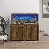 Ollie & Hutch Farmington 55 Gallon Aquarium Stand, Rustic