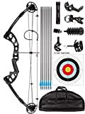 Rochan Aluminum Alloy Compound Bow with Dyneema Bow String Right Hand Composite Bow with Adjustable...