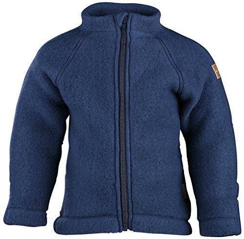 mikk-line Baby-Jungen Wolljacke Wool Jacke, Blau (Blue Nights 287), 68