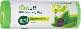 Biotuff Kitchen Tidy General Use Bin Bag Liners 25 Pack,  Small, 25 count, Pack of 25