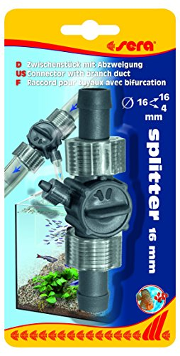 sera 45068 splitter 16/22 mm met aftakking op 4/6 mm, tussenstuk aquarium, slangverbinding, slangverbinding, slangverbinding buitenfilter, slangverbinding voor waterval in het terrarium