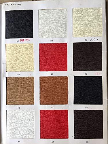 SPFOZ Haus Dekoration Freies Verschiffen U-Best dänischer Design-Lounge-Upholster Hans Wegner-Stil-Flügel lächelnd dreibeinige Schalenstühle mit PU-Sitz (Color : Real Leather)