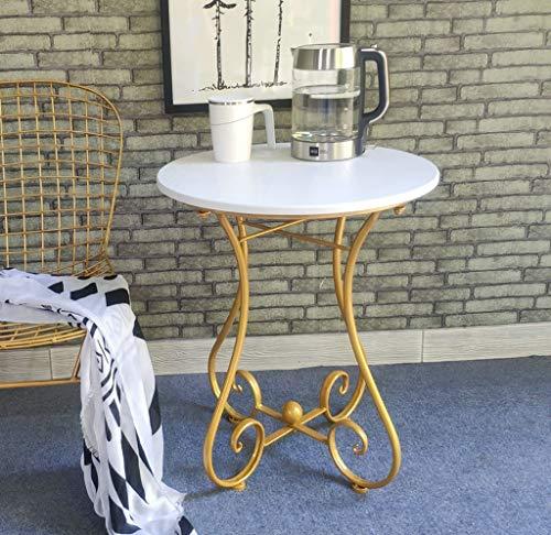 YWXCJ Tables Basses Table d'appoint d'angle Table en Fer forgé européen Salon canapé côté Loisirs Balcon Petite Table Basse Chambre Table d'appoint (Couleur : D, Taille : 55x65cm)