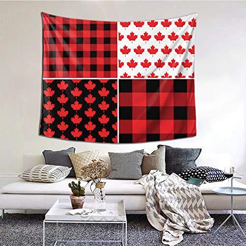 Tapiz de pared con diseño de búfalo de arce canadiense, tapiz bohemio para colgar en la pared, manta de pared, arte de pared, decoración de pared, tapiz de playa, tapiz de pared, 60 × 51 pulgadas