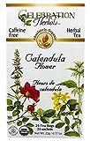 Celebration Herbals - Té herbario de la flor descafeinada orgánica de Calendula - 24Bolsitas de té