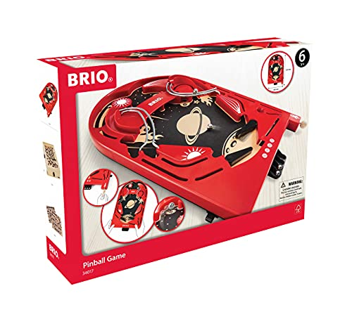 BRIO 34017 Pinball Game | A Classic Vintage, Arcade Style Tabletop Game for Kids and Adults Ages 6...