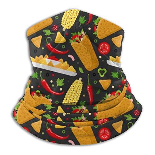 Cathycathy Mexikanischer Burrito Taco und Nachos Halswärmer Gamasche Bandana Kopfwickelschal Kopfbedeckung Sturmhaube