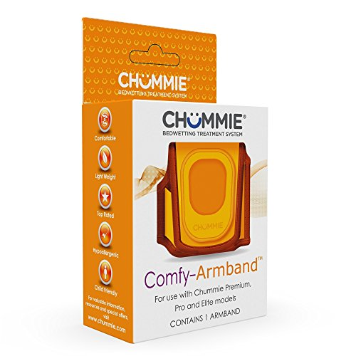 bedwetting alarms Chummie Comfy Armband for Bedwetting Alarms Patented Design to Increase Comfort and Convenience at Night When Used with Bedwetting Alarms, for Boys and Girls of All Ages, Orange