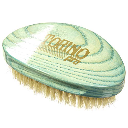 Torino Pro Soft Curved Palm Wave Brush By Brush King #1970 - 360 Curved Softy waves brush no handle -Wavy design handle - Great for laying down waves and pull - for 360 waves