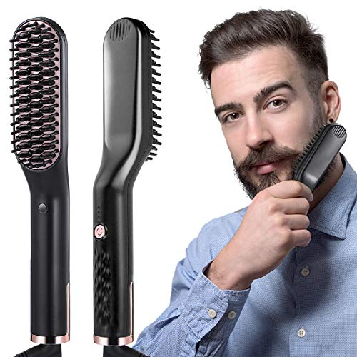 liaboe Cepillo Alisador de Barba 3 in 1 Profesional Multifun